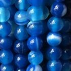 Kugelkette Achat gefärbt blau ca. 40 cm