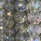 facettierte Kugelkette Bergkristall bedampft ca. 40 cm