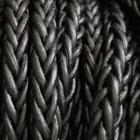Leder schwarz quadratisch 4mm