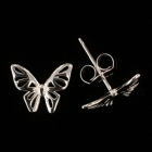 KS11 Schmetterling Silber rhodiniert 8x10 mm