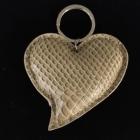 SA10 Herz beige Leder ca. 85x80 mm